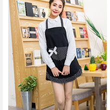 2017 Promotion Special Offer Apron Kit Bib Apron Ladies Pretty Princess Style Pink Black Red Aprons Gowns Suits for Women(China)
