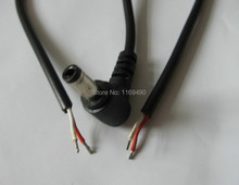 22AWG 10pcs / lot  DC Power Plug L-shaped 5.5X2.5mm / 5.5*2.5 male 90 Right Angle Jack with Cord Connector Cable 29cm