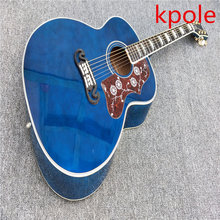 Wholesale sales Kpole Blue Acoustic guitars,Guitarra acustica, immediately shipping(China)