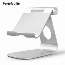 Portefeuille Tablet Stand Aluminum Smart Phones E-readers Tablets Holder For iPhone 8 Plus 7 iPad air 2 Pro 12.9 Nintend Switch(China)