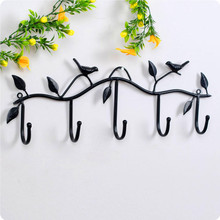 Wrought iron hook birds door hook simple and easy decoration(China)