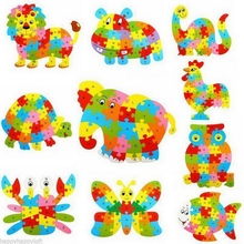 2016 New Arrival Kids Baby Wooden Dinosaur Puzzle Alphabet Jigsaw Learning Educational Toy For Kids Children