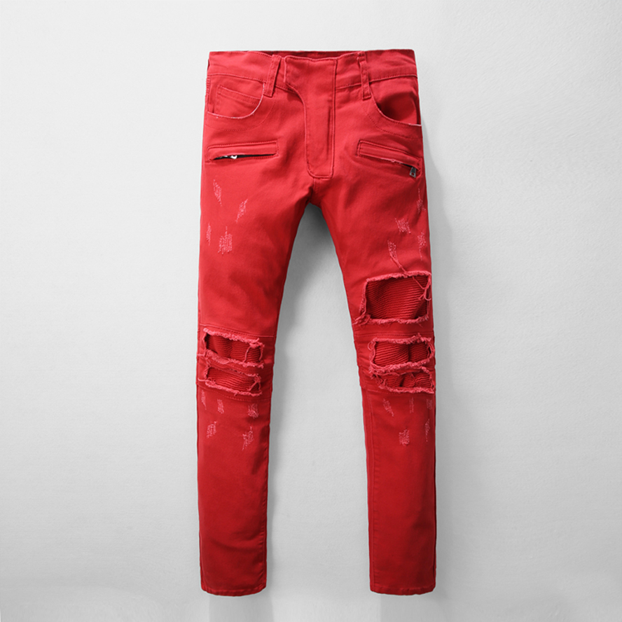 High Quality Red Distressed Jeans-Buy Cheap Red Distressed Jeans ...