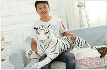lovely plush simulaiton tiger toy new creative white tiger doll lying tiger doll gift about 75cm 388