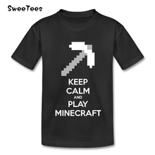 Keep Calm And Play Minecraft T Shirt Kid Cotton Toddler O Neck Baby Tshirt children's Infant Costume 2017 T-shirt For Boy Girl