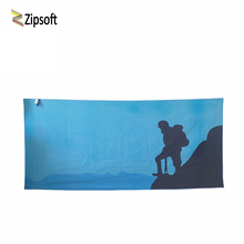 Zipsoft Beach Towels Climber Outdoor Microfiber 2017 Bath Towels Swimming Quick Dry Ultralight Towel Sport Yoga Mat Camping Blue(China)