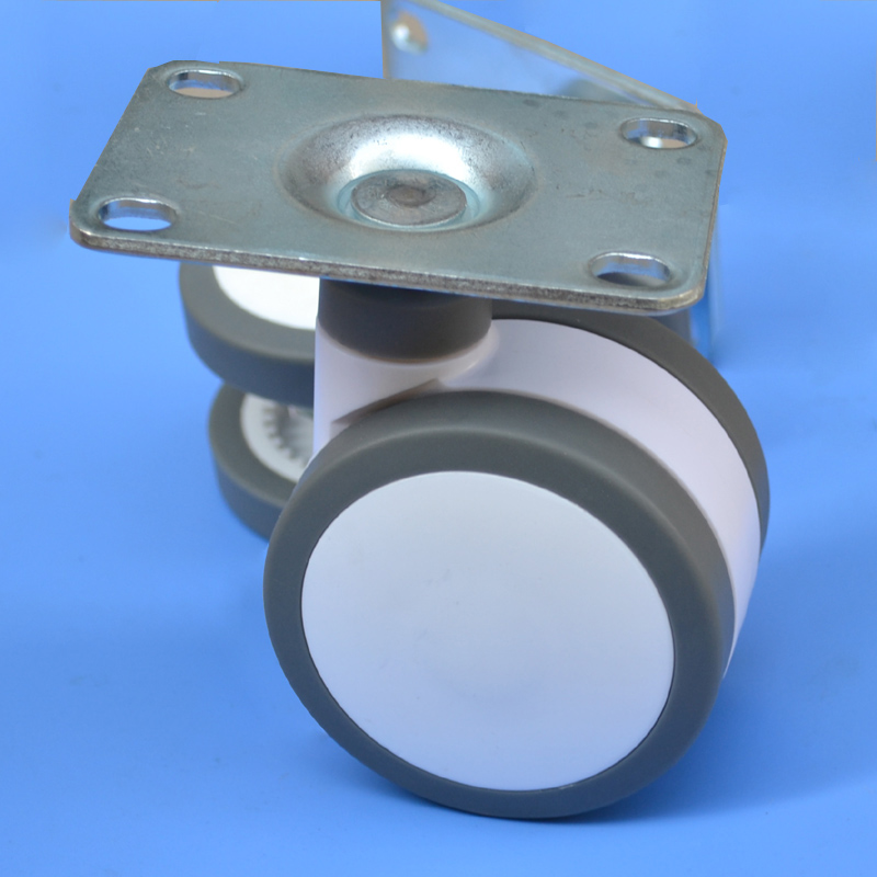 free shipping furniture caster Medical 4-inch Full plastic flat panel universal TPU caster swivel Medical Equipment wheel brake<br>