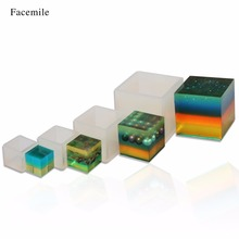 Facemile 5/3.5/2.5/2CM Square Silicone Ice Chocolate Mould DIY Epoxy Jewelry Mold Pastry Cake Mold Cupcake Baking Decor Tool(China)