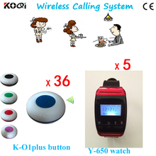 5 Watch+36 Call Button Restaurant Equipment For Sale Electronic Equipment Waiter Beeper System Service Equipment