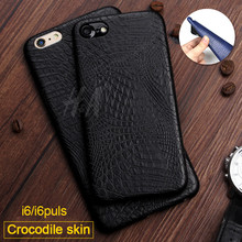 Luxury Case For iphone 6 7 8 X 6s Crocodile Snake Print Leather Cases Back Cover for iphone 7 8 6 Plus X Phone Bags Coque Capa(China)
