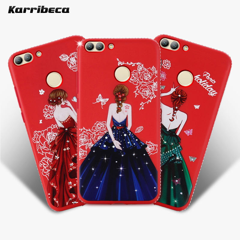 Dress girl silicone case huawei p smart (9)