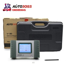 Original  Autoboss V30,SPX Autoboss V30 English/Spanish/Russian AS launch diagun ii update via official website plastic Case