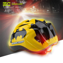 BASECAMP Kids Bicycle Helmet Ultralight Hero Bike Helmet Night Light Children Integrally Molded Safety Skating Bicycle Helmets