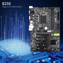 Mining Board B250 Mining Motherboard Maximize Mining Connectivity Low-noise Power Supports GTX1050TI 1060TI For Crypto Mining(China)
