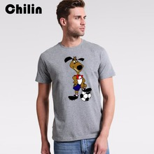 Chilin Striker T Sihrt Hot Sale Dog Playing Soccers T-Shirt Mens 1994 World Cup America USA Tshirt Tees Tops Free Shipping 3XL