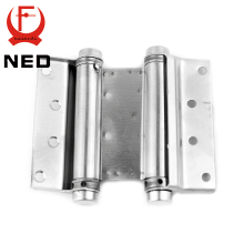 2PCS NED-5107 5 Inch Double Action Spring Door Hinge Stainless Steel Rebound Hinge For Cafe Swing Western Furniture Hardware(China)