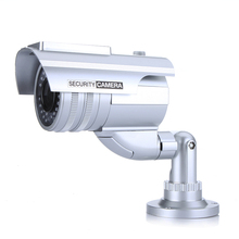 Fake Camera Solar Powered Indoor Outoodr Dummy CCTV Bullet Security Camera With LED Flash Surveillance Camaras de seguridad(China)