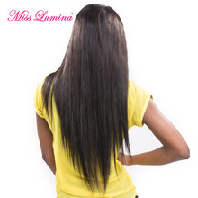 Miss Lumina Lace Front Human Hair Wigs For Black Women 10-24 Brazilian Lace Wig Straight Non-Remy Human Hair With Baby Hair