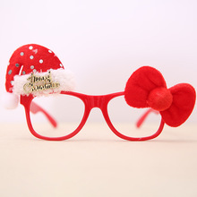 The  Christmas Cute Snowman Santa Claus Deer Decorations New Year Christmas Frame glasses for Adult Children