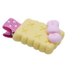 Girls Polymer Clay Biscuits Candy Rainbow Hair Clips Kids Cute Barrettes Stereo Cartoon