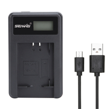 SEIWEI NB-13L NB13L USB Camera Battery Charger with LCD Screen for Canon G5X G7X G9X
