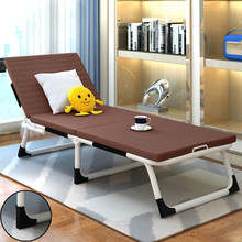 Soft and comfortable type folding bed single office lunch break accompany nap bed simple household sofa bed(China)