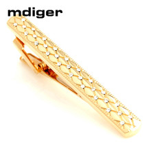 Mdiger New Arrival Tie Clips Men Business Gold Copper Neck Tie Bar White Rhinestones Tie Clip Tie Bar Men Jewelry(China)