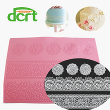 Hot Selling Flower Leaf Pattern Silicone Decorating Styling Tools Sugar Silicone Lace Mat Cake design Fondant Mould