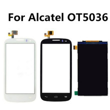 LCD Display Panel Screen For Alcatel One Touch Pop C5 OT-5036 5036D 5036 with Black White Touch Screen Digitizer Glass Sensor