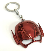 jewelry The Avengers The Flash helmet Series Around The Film And Television The Flash Mask Keychain For Keys Trinket Key Holder