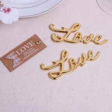 80pcs/lot Love Antique Gold or Silver Bottle Opener Bridal Shower Favors and Gift wedding giveaways gift Free shipping(China)