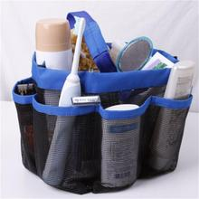 8 Storages Quick Dry Hanging Bag Toiletry Bath Organizer Mesh Shower Travel Bag