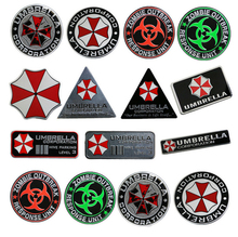 Car Stickers Metal Aluminum Motorcycle Tank Helmet Decal for Umbrella Corporation Resident Evil RESPONSE UNIT(China)