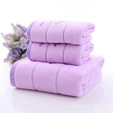 Fashion Lavender Large Bath Towel Cotton serviette de bain Embroidery Bathroom Towel 70x140cm Holiday Gift Drop Shipping(China)