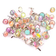 Buy 50PCs mix Pattern Round Diy Brads Scrapbooking Embellishment Fastener Brad Metal Crafts Decoration 12x12mm cp1903 for $2.24 in AliExpress store