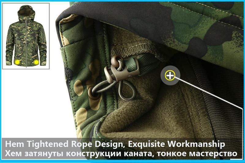 Mege Shark Skin Soft Shell Military Tactical Jacket Men Waterproof Army Fleece Clothing Multicam Camouflage Windbreakers 4XL 14