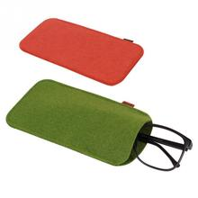 1 PC Brief Glasses Case Soft  Chemical Fiber Felt Cloth Sunglasses Bag Glasses Pouch Red/Green/Deep Gray Eyewear Accessories