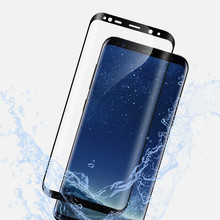 3D Curved Tempered Glass for Samsung Galaxy S8 Full Cover Screen Protector Protective Film for Samsung Galaxy S8 Plus S7 Edge(China)