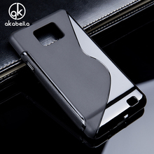 AKABEILA Silicone Cover Case For Samsung Galaxy SII I9100 S2 GT-I9100/A7 2015 A700/A8 A800 A800F/E5 E500 SM-E500F Case Cover(China)