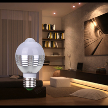 AC85-265V E27 7W PIR Auto Motion Sensor Detection Stair Hall Indoor Room Office LED Light Lamp Bulbs Radiation - Tools-Lighting Store store