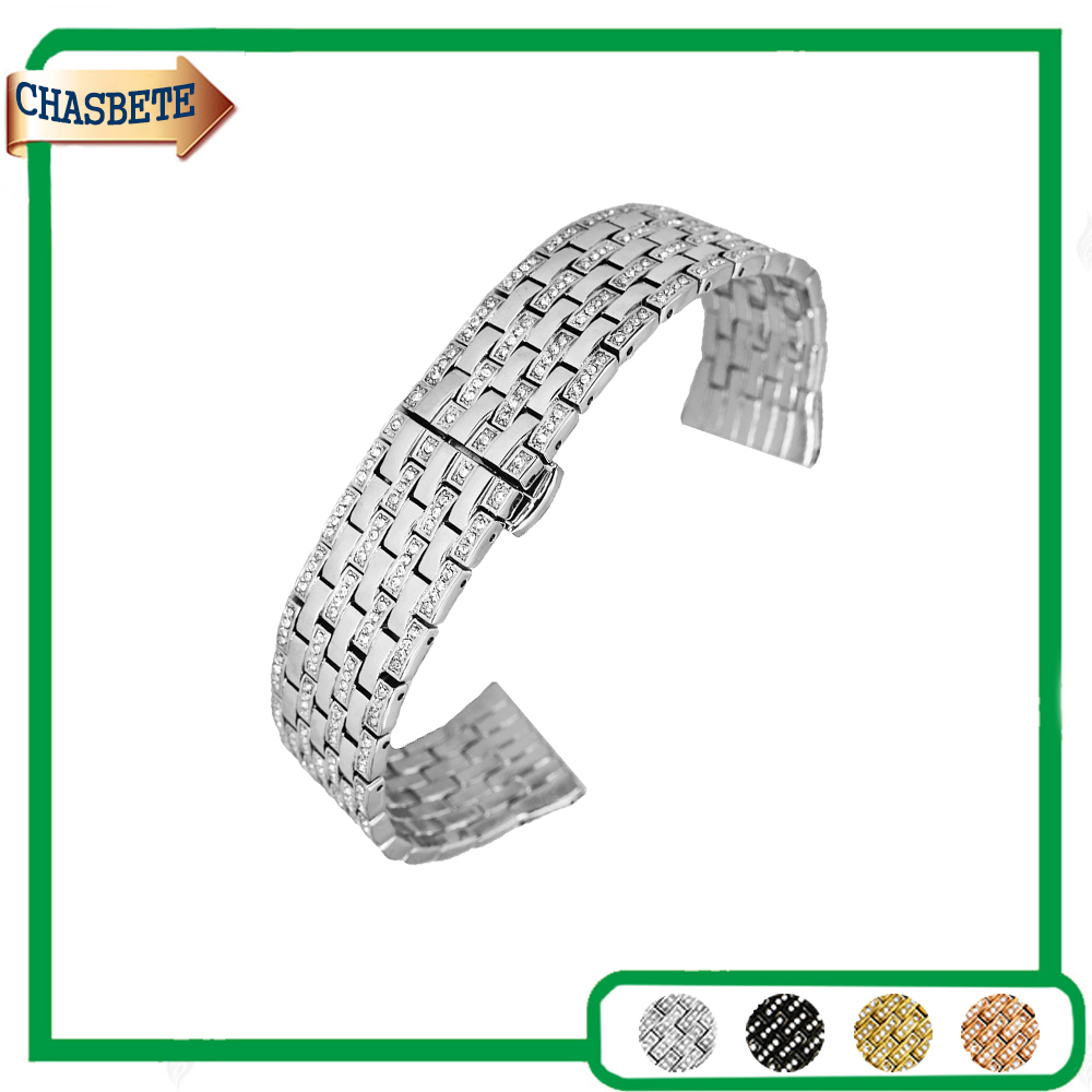 Stainless Steel Watch Band for Omega Watchband 21mm Men Women Push-Button Hidden Clasp Metal Strap Belt Wrist Loop Bracelet<br>