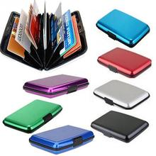 Waterproof Aluminum Surface Card Box Wallet with ID Bank Bus Credit Card Holder Hot Style 12 Colors for Choice(China)