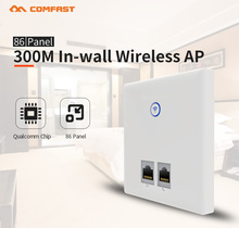 2017 New Comfast Wireless Indoor Wall Wifi AP Repeater Wi-Fi Router With 2*2dbi Antenna for Hotel Room Support POE IN wall AP