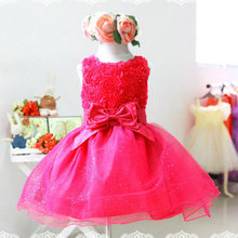 summer new arrival flower princess girl dress,lace rose Party Wedding Birthday girls dresses,Candy princess tutu elegant