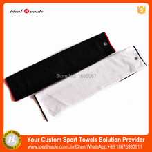 Wholesales custom brandings Plain terry style golf ball cleaning towel tri fold in plain colors