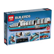 Lepin 22002 1518Pcs Technic Series The Maersk Cargo Container Ship Set Educational Building Blocks Bricks Model Toys Gift A848