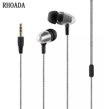 RHOADA 2017 In-Ear Music Earphone Wired for Xiaomi MP3 MP4 For xiaomi mobile phone Earphones /3.5mm Jack