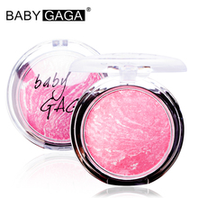 BABY GAGA Baked Blush Makeup Cheek Blush Powder Blusher Powder Charming Cheek Make Up Face Blush Palette Beauty Brand Cosmetic