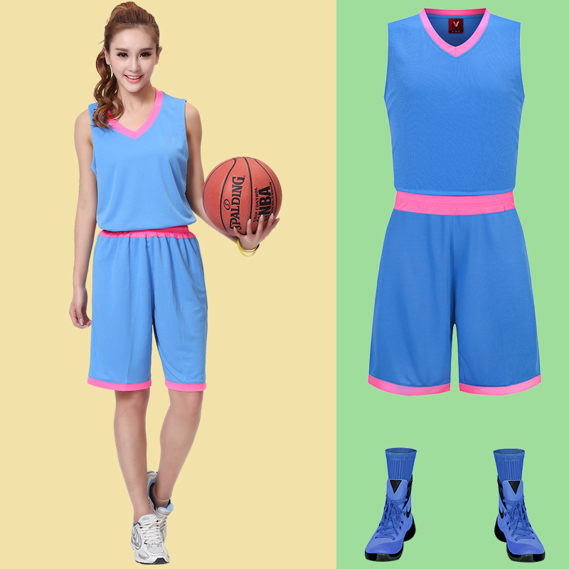2017 Newest Women's Female Youth Girls Blank Custom Training Team Uniforms Sports Suits Throwback Basketball Jerseys+Shorts Sets(China (Mainland))