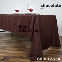 10PCS Chocolate Color Wedding Table Cloth \Polyester Tablecloth Free Shipping(China)